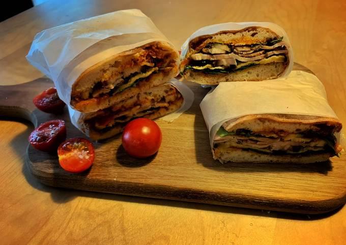 How to Prepare Tasty No knead panini bread