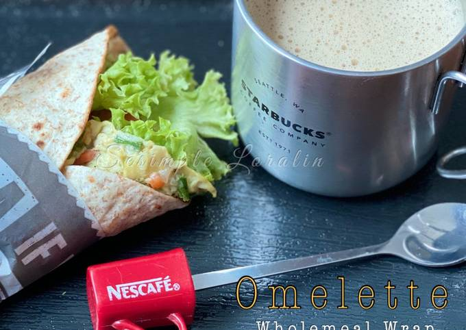 Omelette Wholemeal Wrap (Eat Clean Healthy Breakfast)