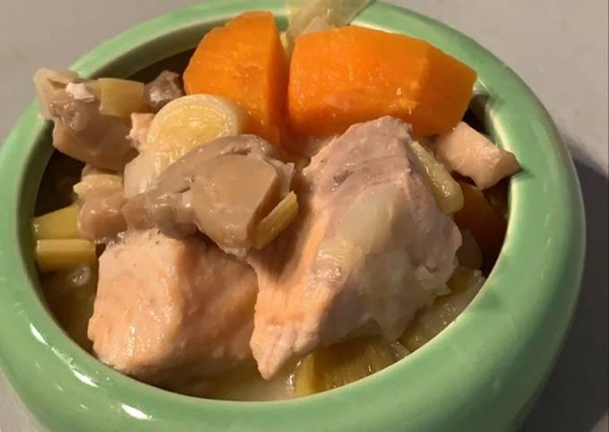 Blanquette de saumon au Cookeo