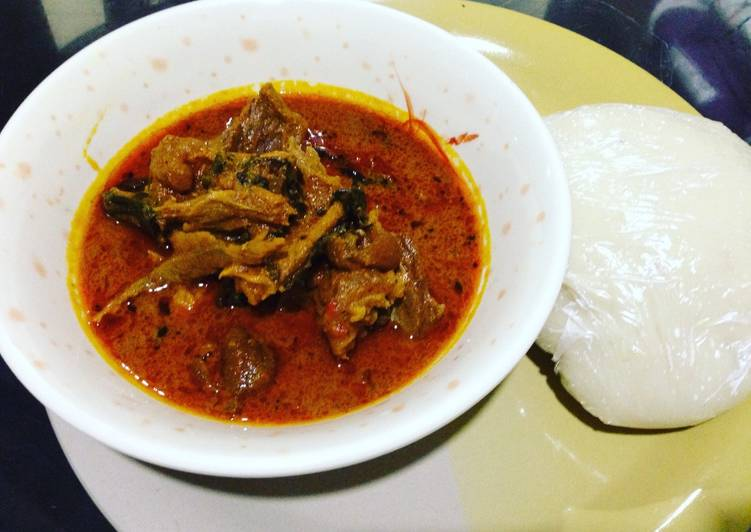 How to Prepare Super Quick Homemade Banga soup with pounded yamg