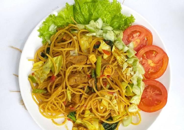 Mie Aceh (versi spagheti)