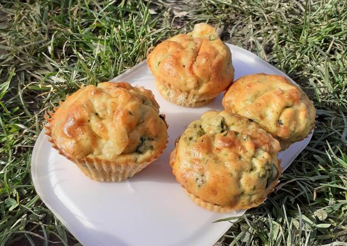 Muffins salés sains chèvre épinards