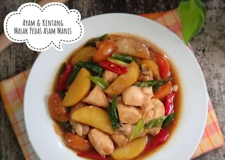 Ayam & Kentang Masak Pedas Asam Manis