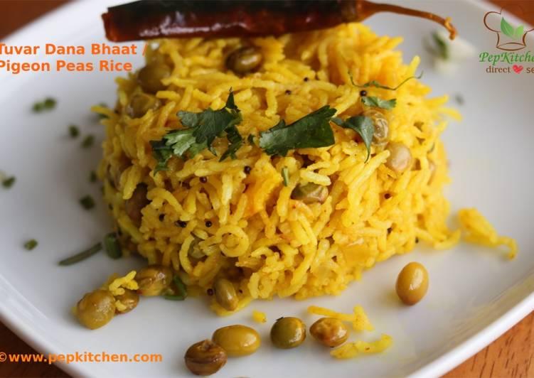 Easiest Way to Prepare Super Quick Homemade Tuvar Dana Bhaat/Pigeon Peas Rice