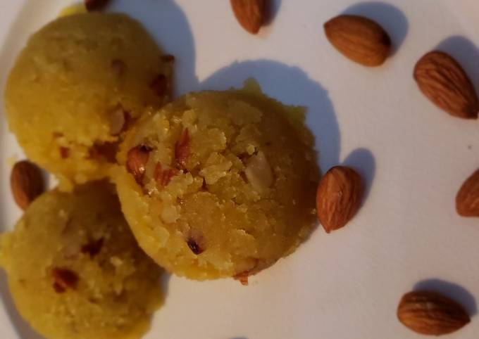 Moong dal halwa or split petite mung beans dessert