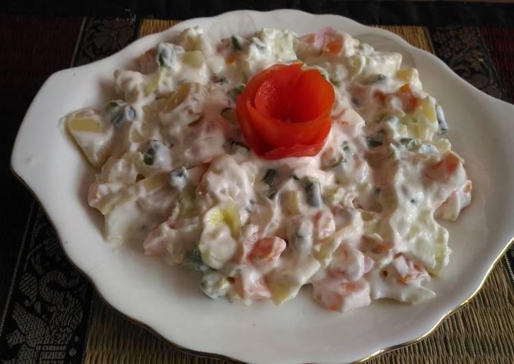 30 Minute Recipe of Autumn Russian salad