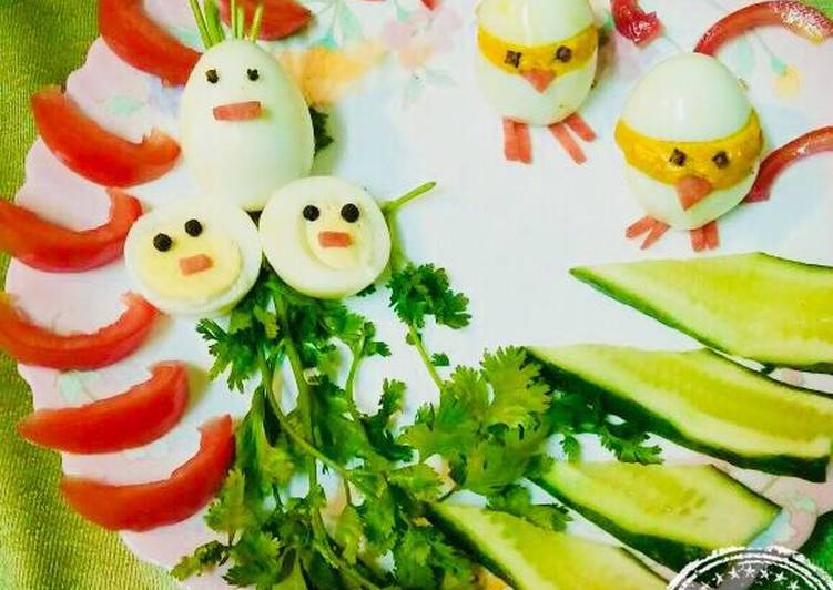 Easter Chicks Deviled Egg