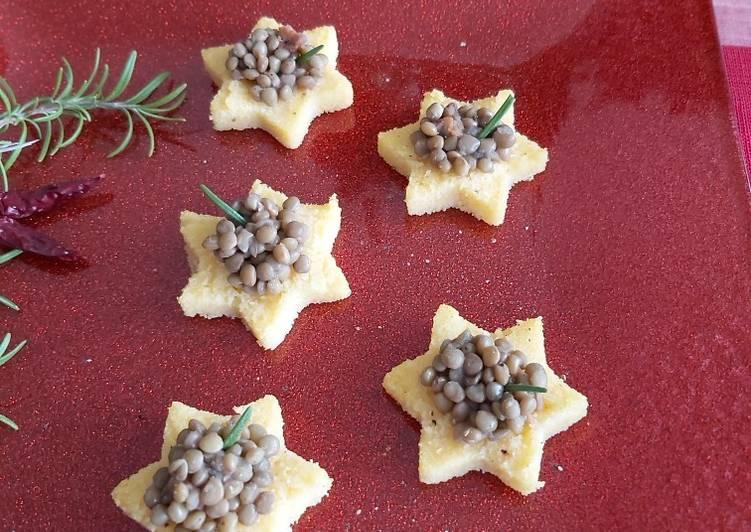 Recipe: Tasty Polenta stars with lentils
