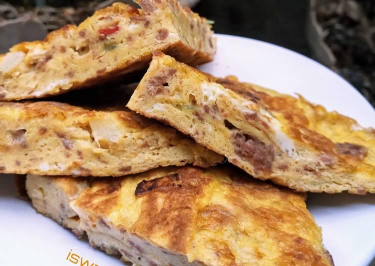 dadar-telur-corned-beef