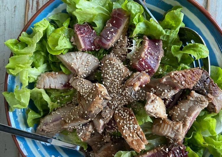 La Recette Pas à Pas Salade au thon mi cuit