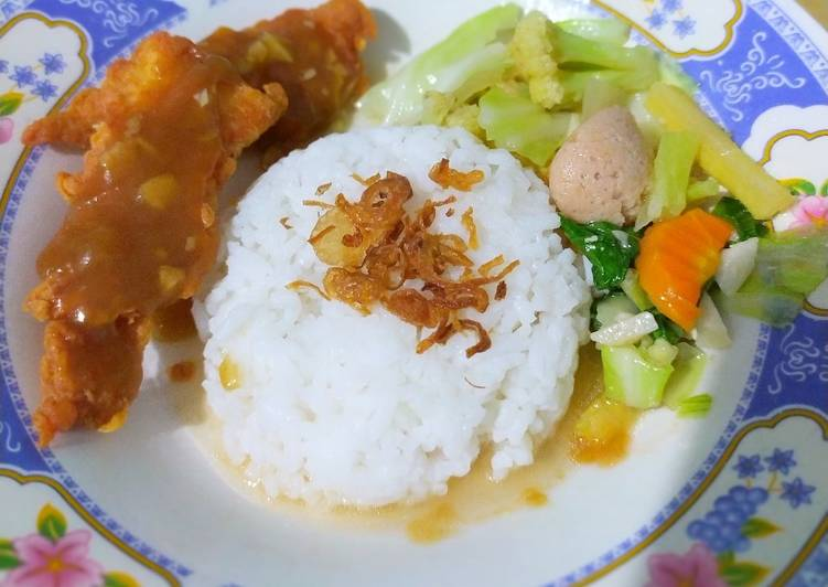 Resep Ayam Crispy Saus Teriyaki ala Solaria oleh Nek Ora Nopik Ora - Cookpad