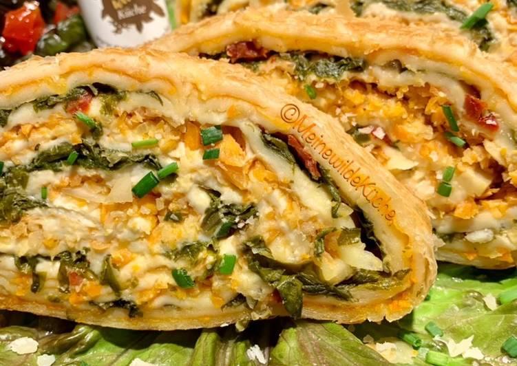 Gemüse-Strudel mit Mangold