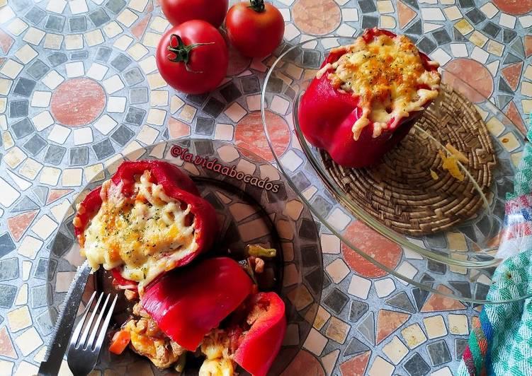 Pimientos rellenos vegetarianos