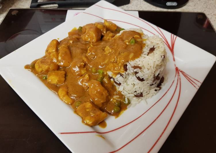 Recipe of Homemade My Chicken & Prawn Curry. With Basmati Rice and Sultanas.😁