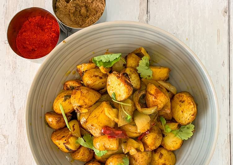 Baked Spicy Salt & Chilli baby Potatoes
