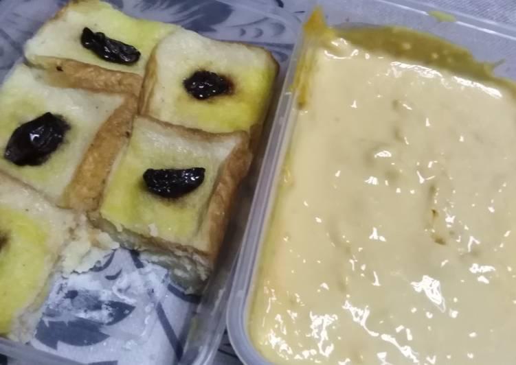 Puding Roti Sos Kastard - velavinkabakery.com