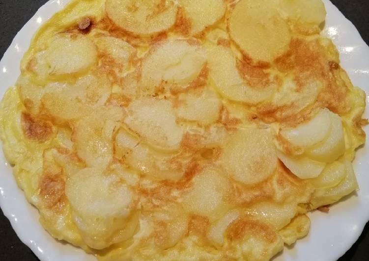 Steps to Prepare Super Quick Homemade Potato Pizza Egg😊