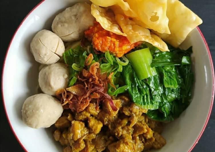Mie Ayam Baso Ceker Homemade ala Kaki Lima