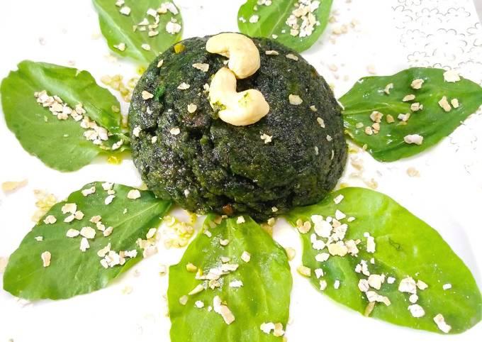 Spinach Oats Halwa