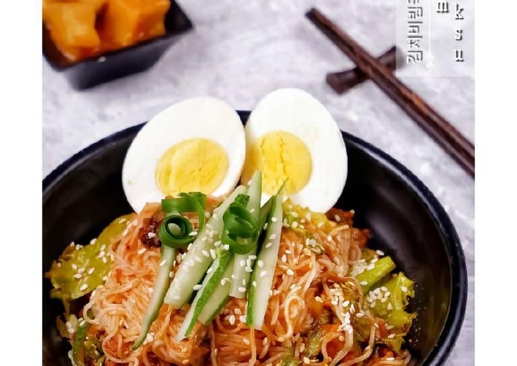 Cara Membuat Kimchi Bibim Guksu irit anti gagal