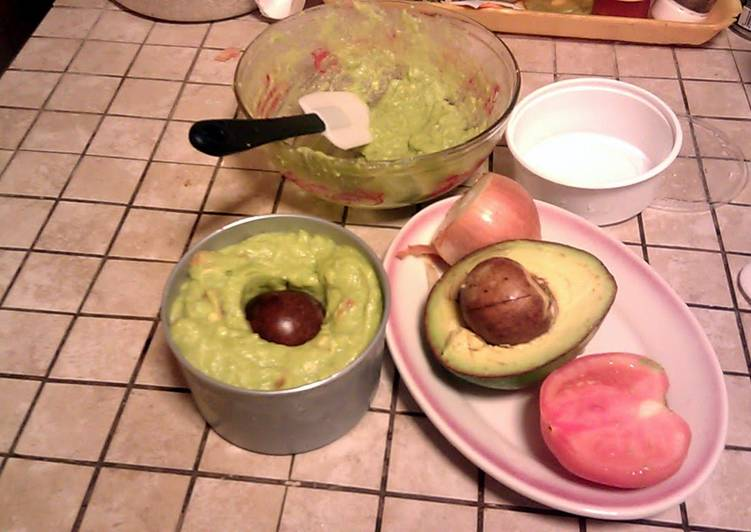 Best and Easy Guacamole Dip - Step by Step with illustrations; b