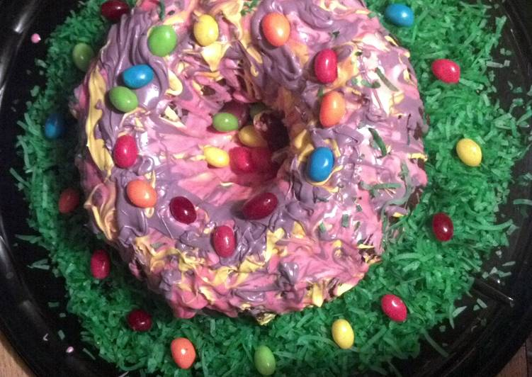 Rainbow Ring Easter Cake