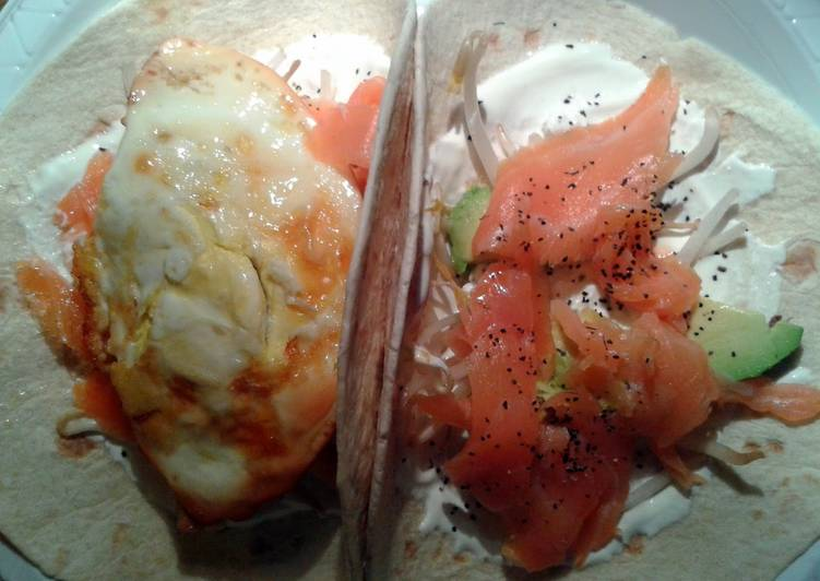 Smoked salmon & egg tortilla