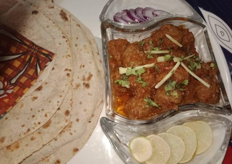 Absolutely Ultimate Dinner Easy Refreshing Karahi kofty😋