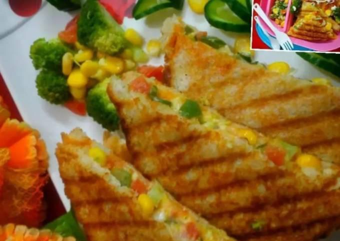 Healthy Grilled Corn Capsicum Broccoli Sandwich