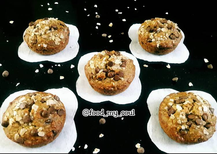 Recipe of Favorite Banana Oats Muffins Vegan
