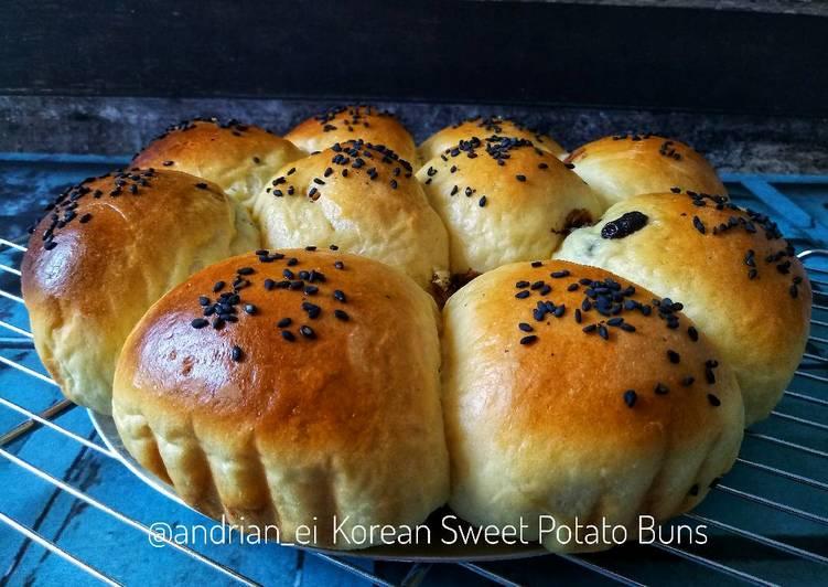 Korean Sweet Potato Bread (Roti Ubi ala Korea)