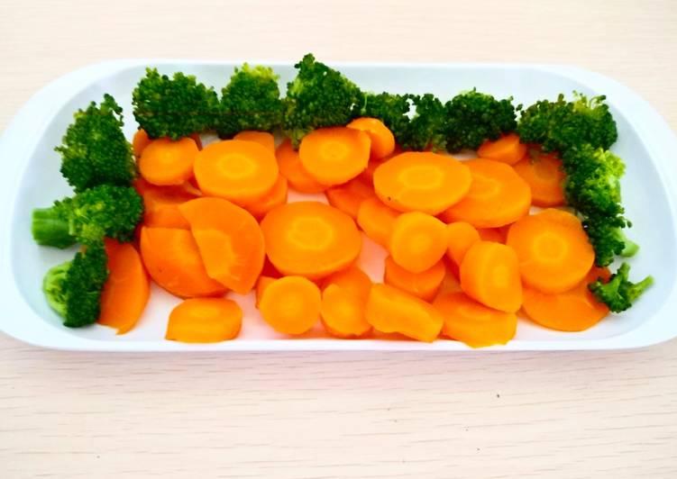 Resep Brokoli Dan Wortel Kukus Oleh Herli Yani Cookpad