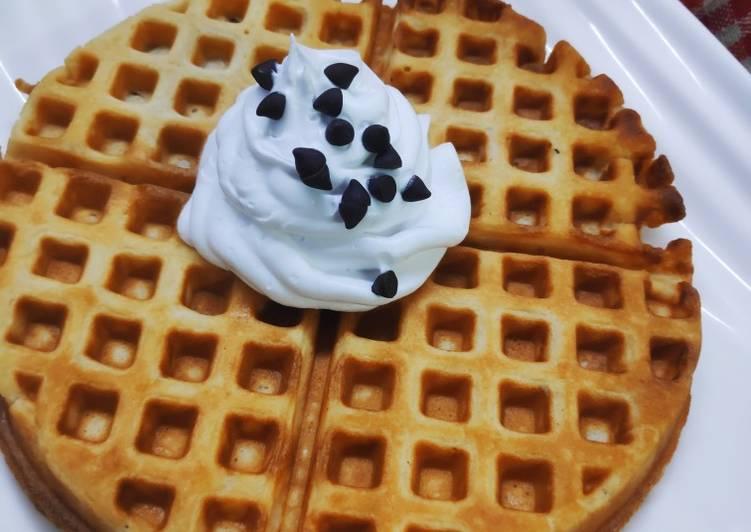 Eggless buttermilk waffles