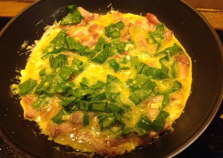 Omelette à l'oseille et à l'aillet