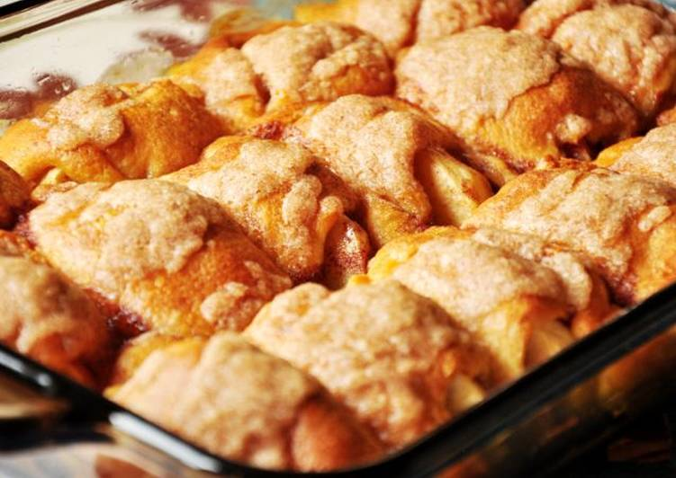 Simple Way to Prepare Perfect Crescent Roll Mountain Dew Apple Dumplings