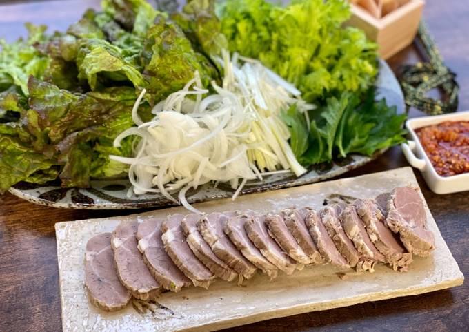 Boiled Pork with Chili Garlic Miso