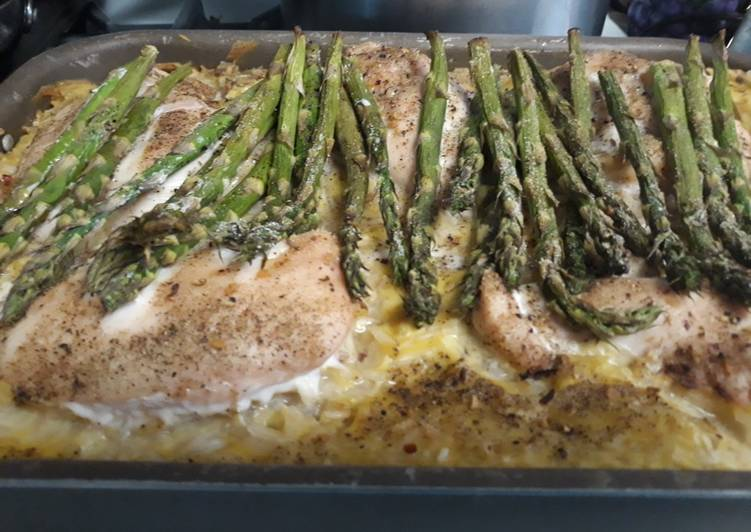 Recipe: Delicious Jasmine Rice Chicken and Asparagus