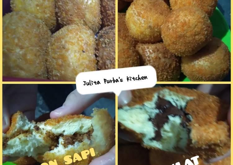 Roti Goreng Isi Abon & Coklat