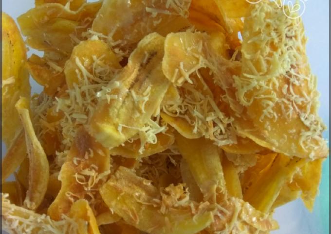 Kripik pisang keju