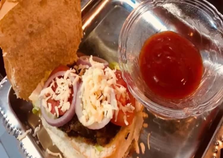 Healthy bean burger sandwich
