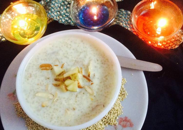 Recipe of Perfect Quinoa Kheer....Kheer is traditional dessert of India