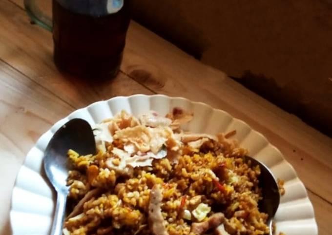 Nasi goreng bakso simple