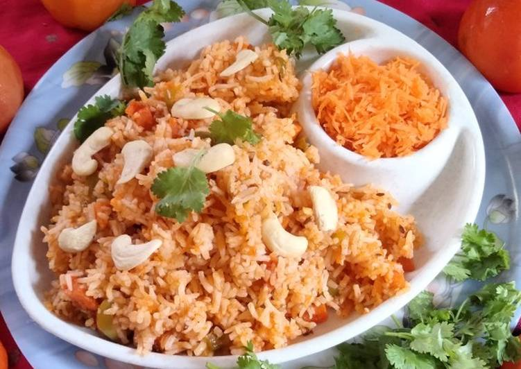 Recipe of Any-night-of-the-week Yummy and tasty carrot rice