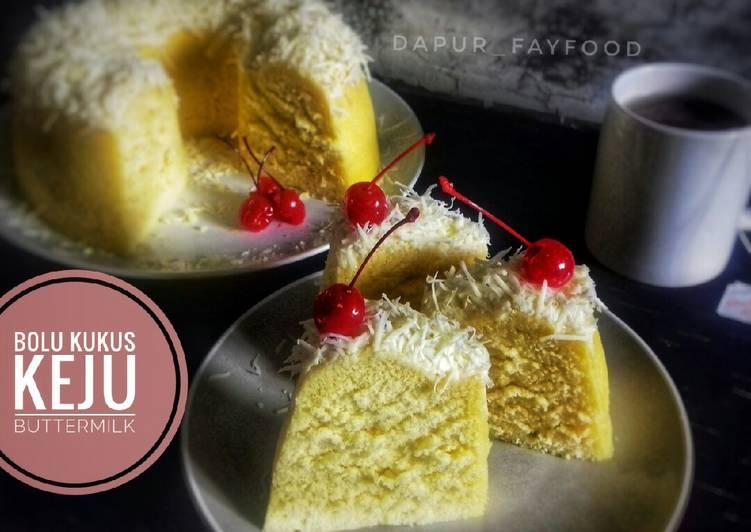 Cara Gampang Menyiapkan Bolu kukus keju buttermilk Anti Gagal