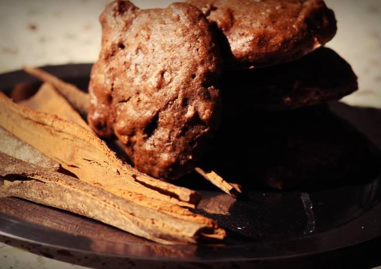 Cinnamon chocolate cookies with whole wheat flour!