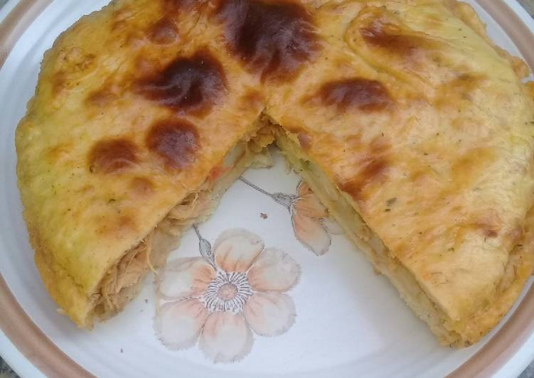 Simple Way to Prepare Most Popular Fluffy and light chicken pie