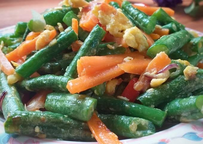 Sayur Goreng Kacang Panjang & Telur