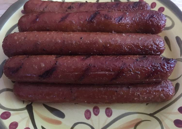 Recipe of Ultimate Smoked hot dogs