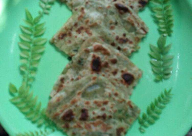 Recipe of Quick Curry leaves ka parantha