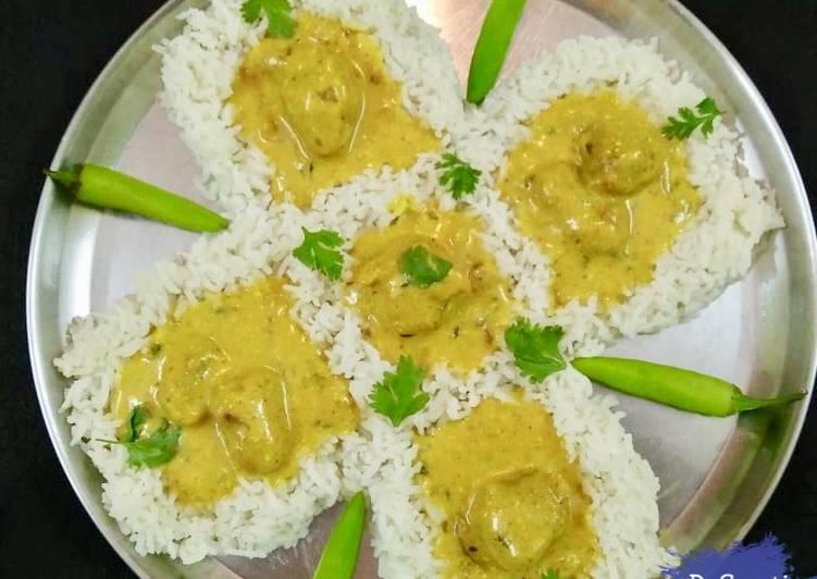 Simple Way to Make Quick Kadhi Pakora Rice